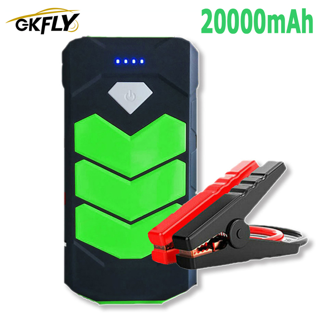 High Power 20000mAh Starting Device 12V Car Jump Starter Power Bank Petrol Diesel Car Charger For Car Battery Booster LED