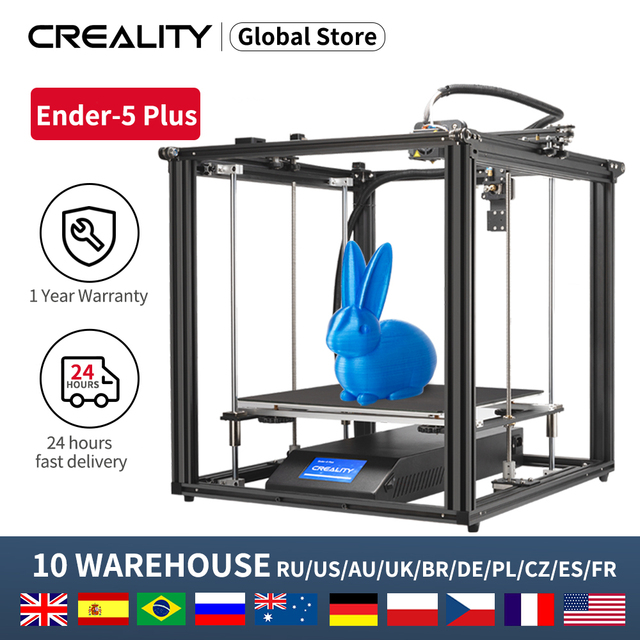 CREALITY 3D Ender 5Plus Printer Dual Z Axis brand power Large Printing Size With BL Touch Levelling Resume Print Filament Sensor