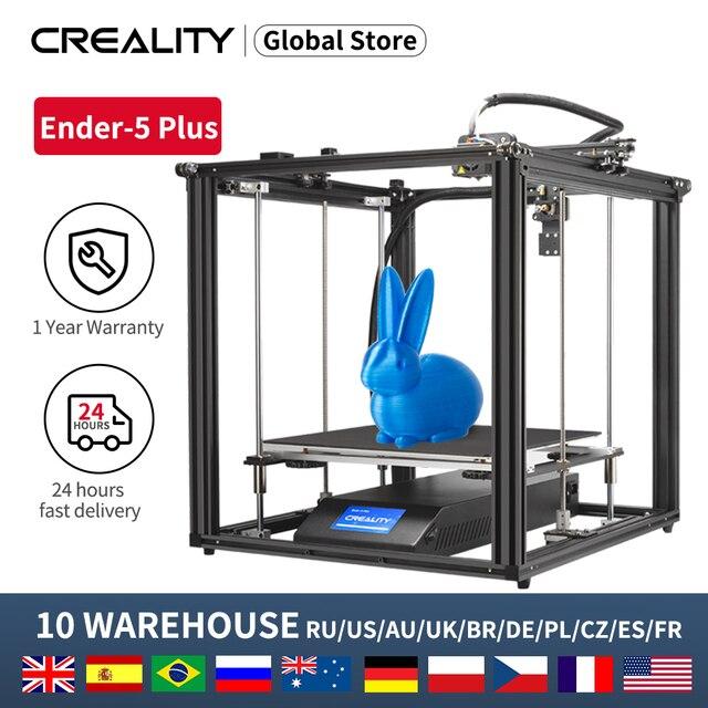 Creality 3D Ender 5Plusプリンタデュアルz軸ブランド電源大型印刷サイズとblタッチレベリング再開プリントフィラメントセンサー