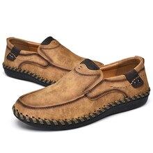 38 49 zapatos casuales de marca de moda para hombres cómodos 2019 zapatos de cuero para hombres #8807