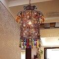 Турецкий Богемия Средиземноморский ресторан спальня лампа ретро многоцветный Бронзовый подвесной светильник из кованого железа A229 блеск ...