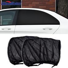2 uds parasol de coche de estilo Accesorios de Auto protección UV cortina de ventana lateral parasol de malla de visera de sol protección películas de ciego