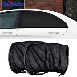 2pcs Car Sun Shade Styling Accessories Auto UV Protect Curtain Side Window Sunshade Mesh Sun Visor Protection Films roller blind