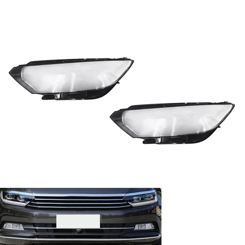 Couvercle de phare clair de voiture couvercle de phare de remplacement lampe de phare couverture de coquille pour Magotan Passat B8 2016 2017 2018