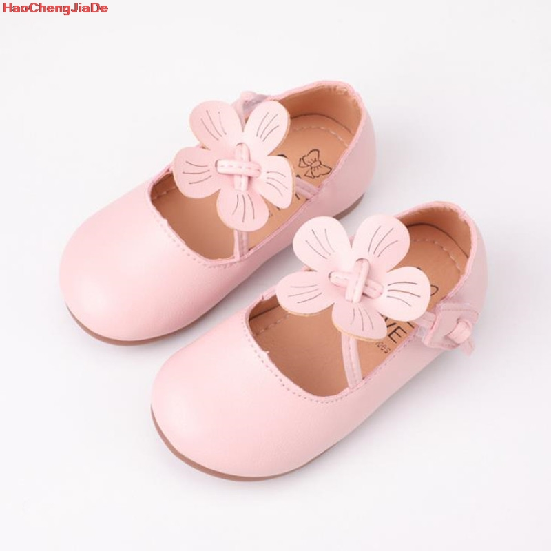 Yellow Pink Kids Toddler Flower Children Girls Wedding Party Dress Princess Leather Shoes For Teens Girls Dance Shoes New