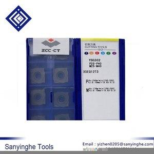 ZCC.CT 10 ⑤ кор. YBG302 XSEQ1202 XSEQ1203 XSEQ12T3 XSEQ1204 XSEQ12T4 cnc карбидные фрезерные Вставки лицевой и боковой резак SMP01