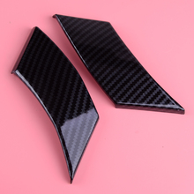 DWCX Carbon Fiber Texture Car Front Door Window Bracket A Pillar Cover Trim ABS Fit For Toyota RAV4 Hybrid 2019 цены