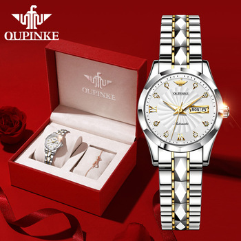 OUPINKE Mechanical Women Watch Fashion Switzerland Luxury Brand Ladies Wrist Watch Automatic Original Design montre femme 3169 1