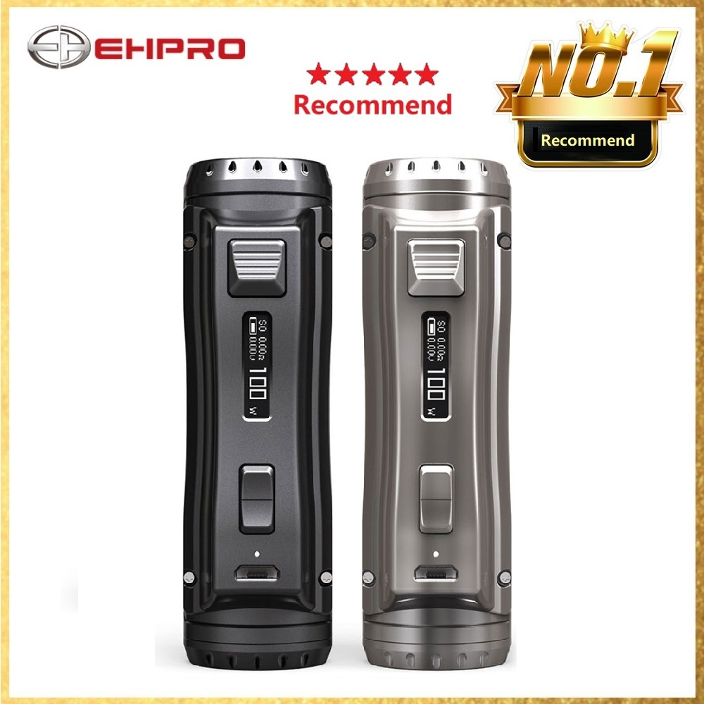 Original 120W Ehpro Cold Steel 100 TC Box MOD 0.0018S Ultrafast Firing Speed Powered By 18650/20700/21700 Battery Vs Drag 2 Mod