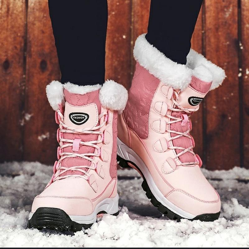 KAMUCC New Women Boots Women's Winter Boots Shoes Woman Snow Boots Women's Boots Winter Boots for Women Winter Shoes Ankle Boots 43