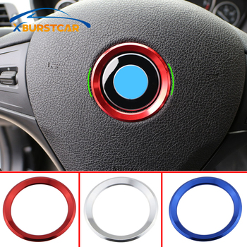 Xburstcar Steering Wheel Decoration Circle Cover Sticker for BMW X1 F48 E60 E36 E39 E46 E30 E60 E90 E92 F10 F30 F25 Accessories image