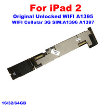 For IPad 2 Motherboard WiFi+3G Version A1396 A1397 For IPad Main Logic Board NO iCloud 16GB 32GB 64GB