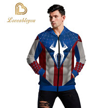 Superman Marvel Movie 3D Print Avengers Cosplay Super Hero Collection Hooded Zip Up Hoodie(China)