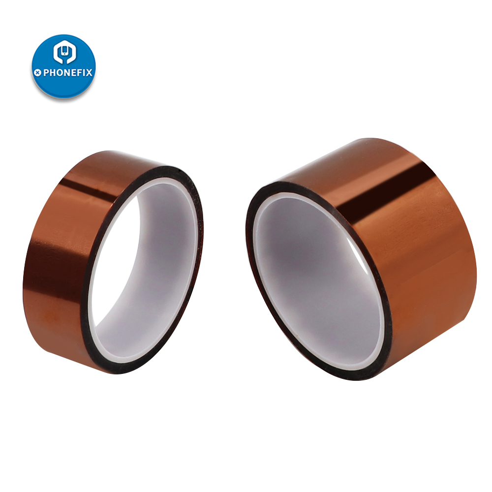 1pc 33M Length High Temperature Heat BGA Tape Heat Resistant Polyimide Tape 5/10/15/20/25/30MM Width For Soldering Protection