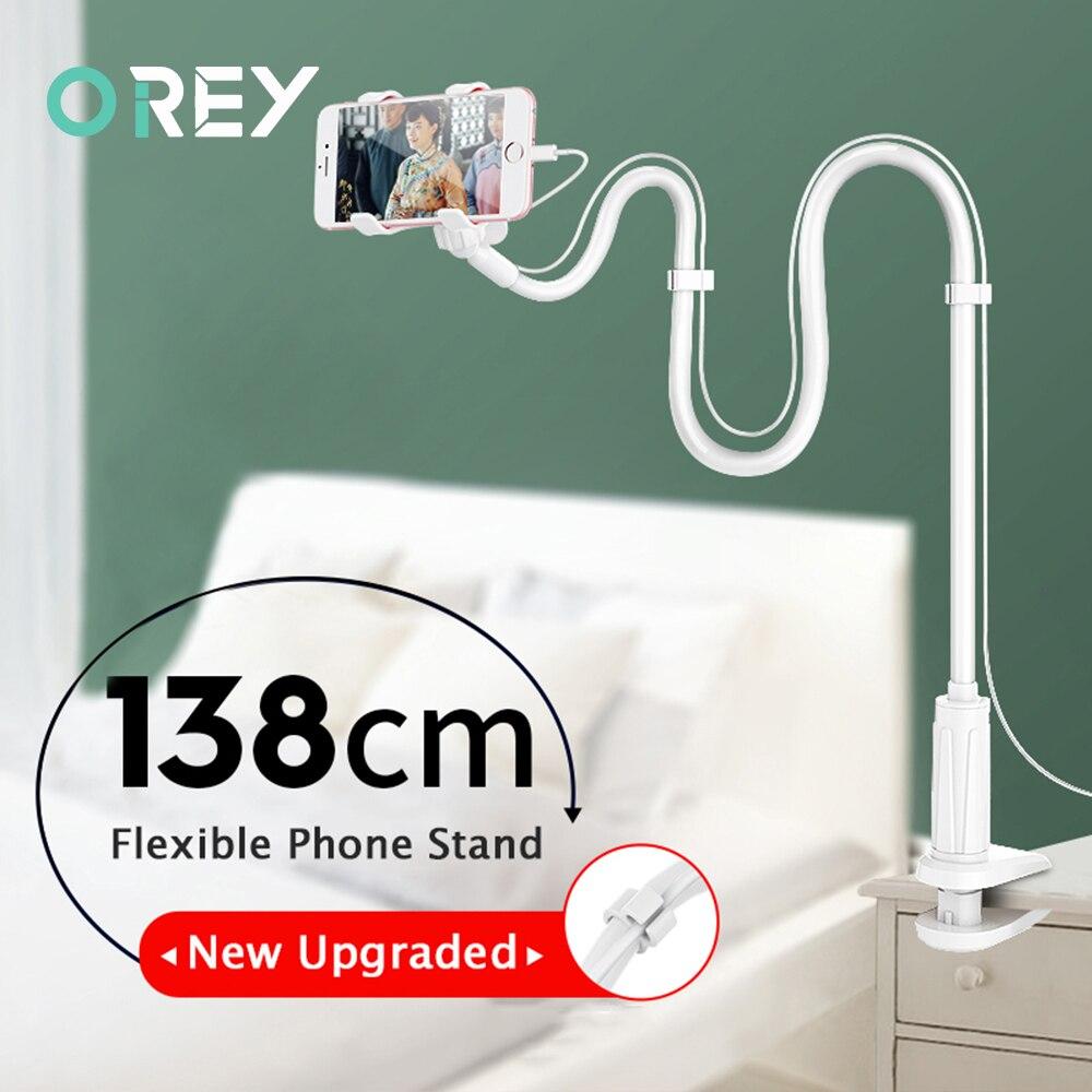Universal Phone Holder Flexible 360 Clip Mobile Cell Phone Holder Desk Lazy Bed Desktop Bracket Mount Stand Base Bracket Support