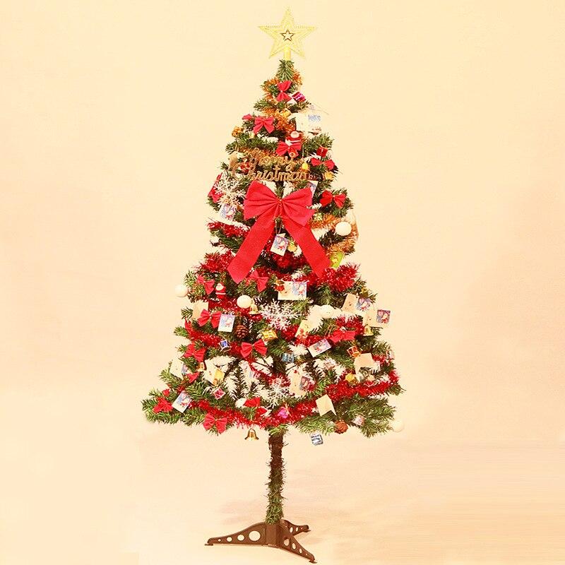 1,5 Meter Weihnachten Baum Set mit Dekorationen Set Baum Urlaub Anordnung Ornamente für Home Frohe Weihnachten Dekoration