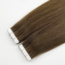 Seamless Straight Invisible Tape In Human Hair Extensions Remy Hair Skin Weft Adhesive Extension Natural Brown Blonde 20pcs