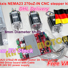 Stepper-Kit Board Cnc Controller 3-Axis for Router 270oz-In 3-Nema23-76mm/3.0a