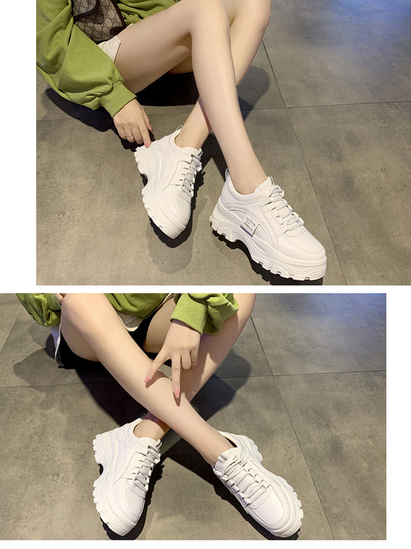 Autumn New Korean Style Women Shoes Casual Platform Solid Color Sneakers Women Casual Shoes Sneakers Zapatos De Mujer VT762 (6)