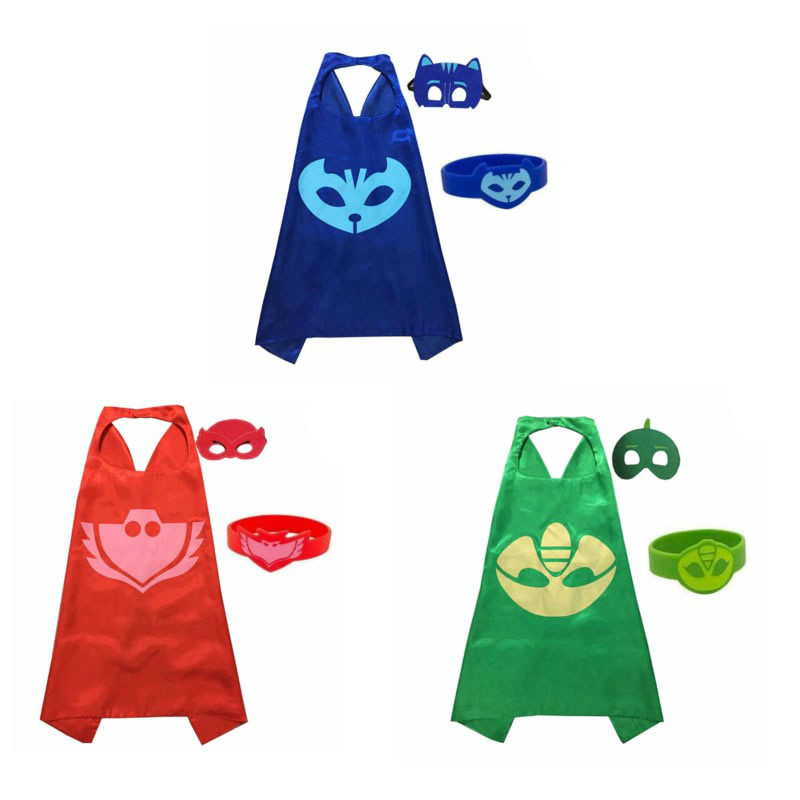 Image 2 - PJ Masks Anime Party Children Mask Cloak Cartoon Figure Birthday  Gift For Boys And Girls Halloween Cosplay ApparelParty Masks   -