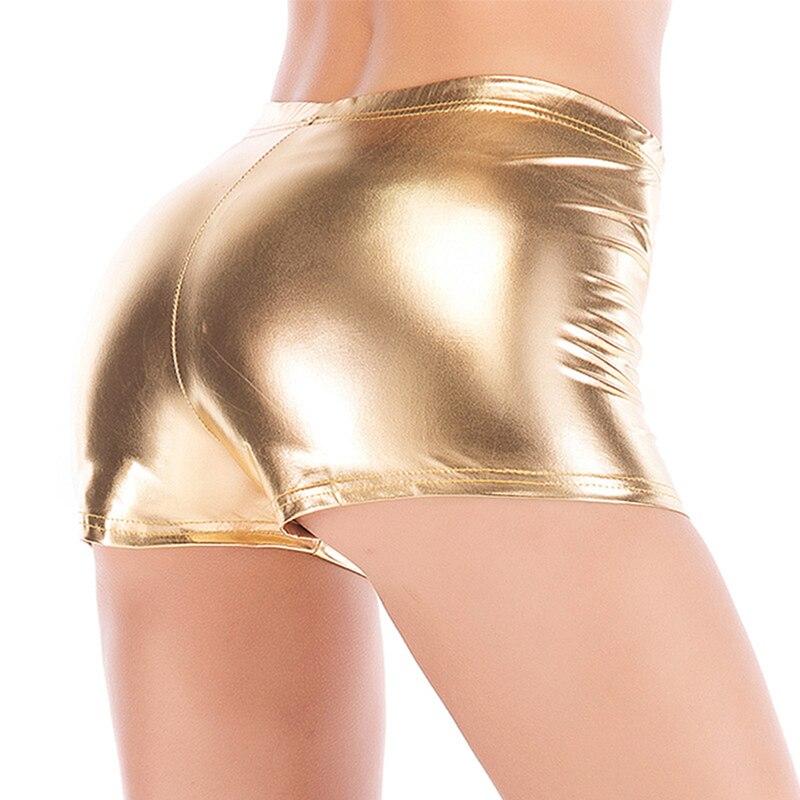 Candy Color Faux Leather Shorts Glitter Sexy Pole Dance Booty Shorts Mini Short Women Hot Clubwear Pantalon Corto