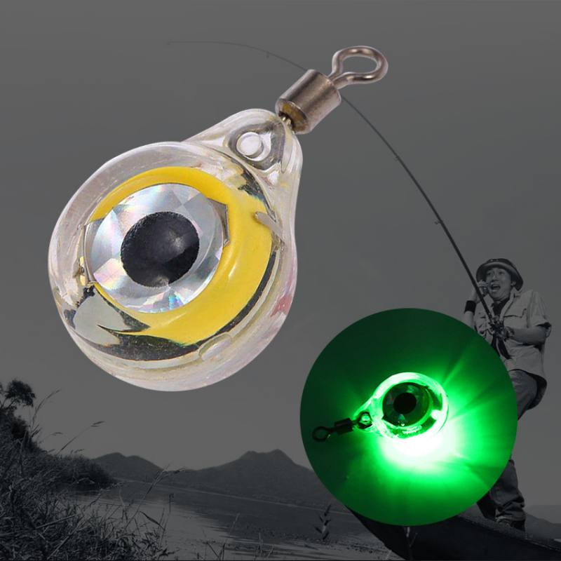 Newest 5 Color Mini fishing light small illuminating LED Deep Drop Underwater Eye Shape 6 cm/2.4 inch Fishing Squid Fishing bait