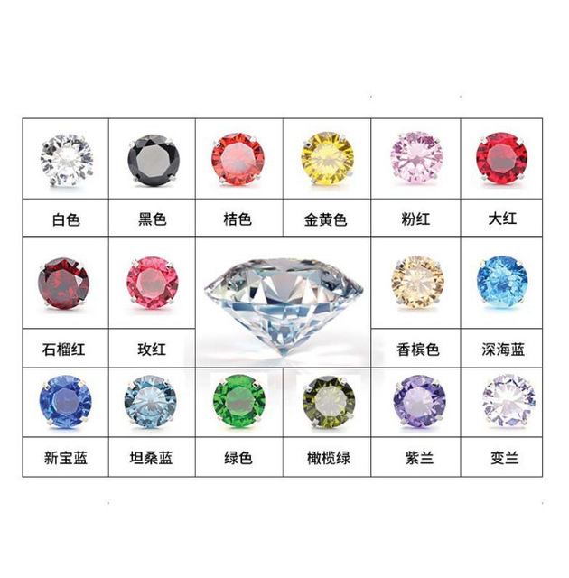 Curved Eyebrow Ring Clear CZ Gem  3mm Round Zircon Internally Threaded Nail Stainless Steel Bending  Body Jewelry 16G hip hop 5