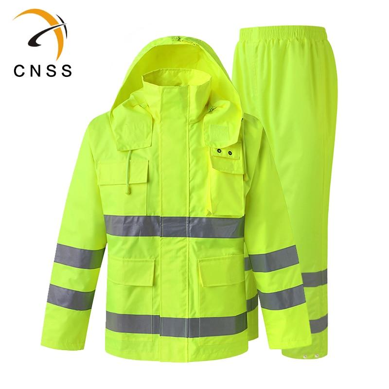 Construction Pants Raincoat Traffic Construction Environmental Uniform Separate Raincoat Suit Pants Waterproof Outdoor Jacket