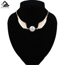 цена на Hot Pearl Angel Wings Collar Chain Necklaces Women Dresses Dress Top Necklace