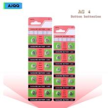 Wholesale 80PCS AG4 377A 377 LR626 SR626SW SR66 LR66 Button Battery For Clock Toys