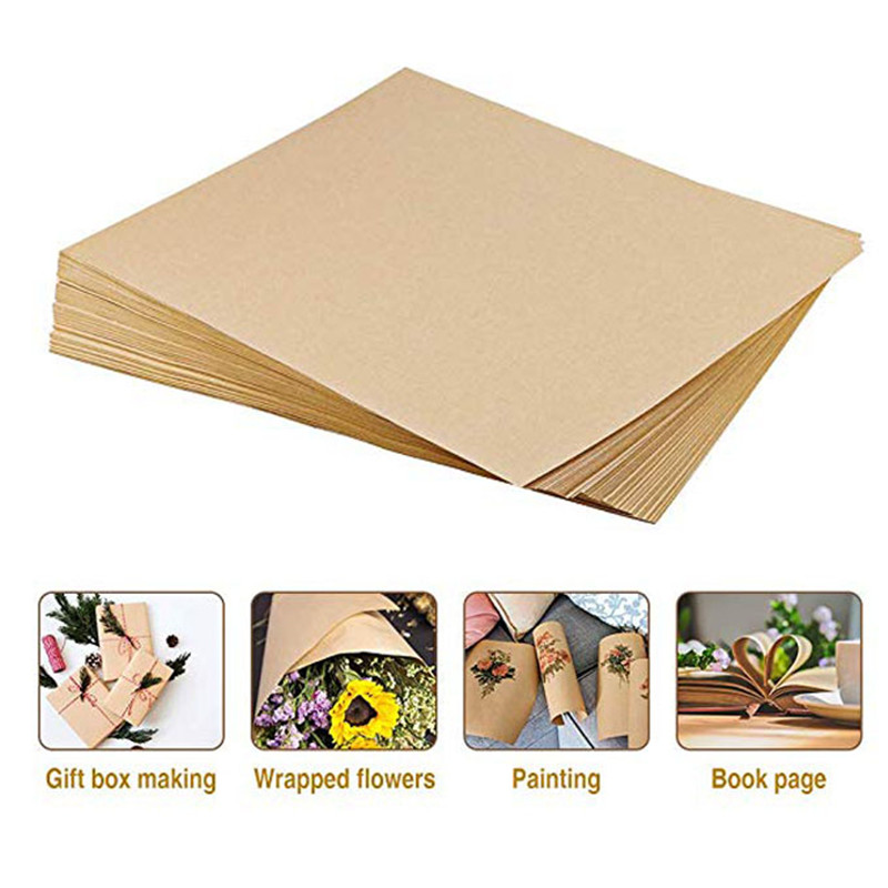 100sheet Brown Kraft Writing Paper 120GSM A4 Size Stationery Paper For Drawing, Letter Paper, Printing And School Office Supplie