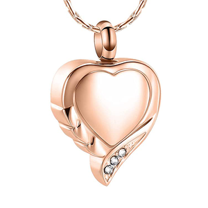 Кремация ожерелье для праха мемориальная урна, ювелирные изделия из нержавеющей стали Урна в виде сердца медальон для женщин/мужчин