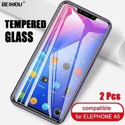 На Алиэкспресс купить стекло для смартфона 2 pcs full tempered glass for elephone a5 screen protector 2.5d 9h tempered glass on the for elephone a5 protective film