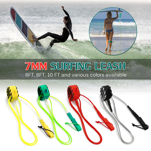 Surf Leash Surfing Surfboard Leash Smooth Steel Swivel Surfing Leg Rope Paddleboard Leash 6FT/8FT/10FT paddle Board Leash