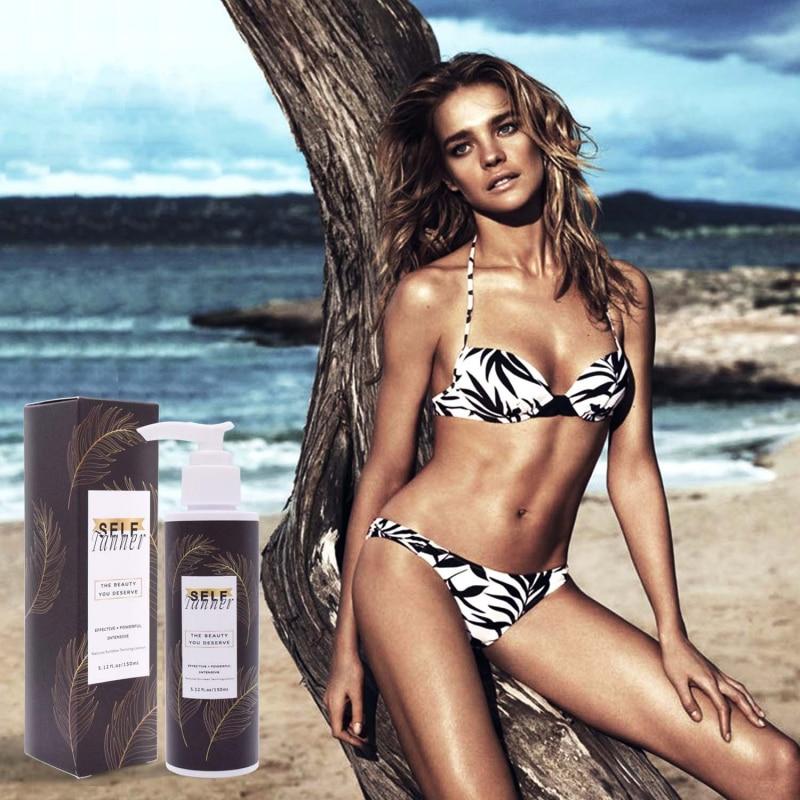 Hot! Color Stay Bronze Self Sun Tan Tanning Enhance Day Tanning Cream Natural Bronzer Sunscreen Tanner Lotion Suntan Cream