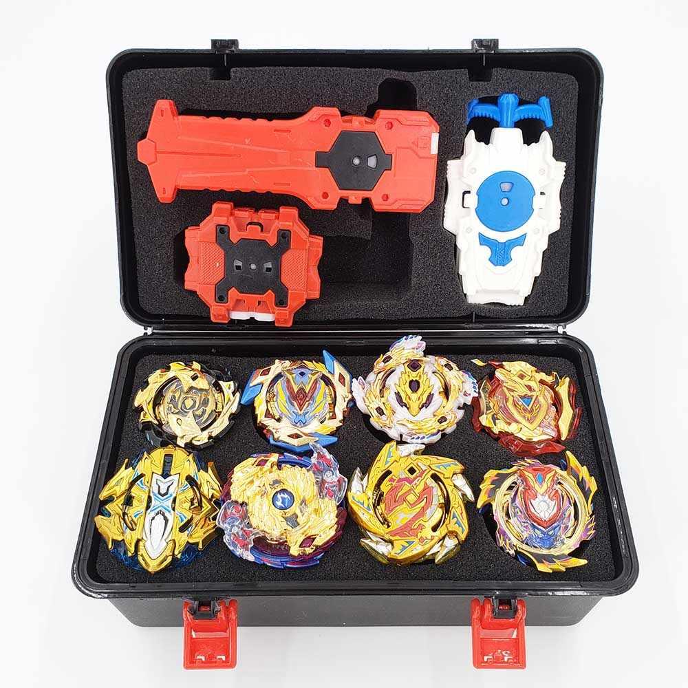 Topos beyblade explosão conjunto de brinquedos beyblades arena bayblade metal fusão luta gyro com lançador girando topo bey lâmina brinquedos