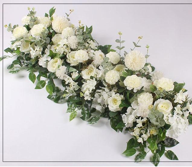 Flower Garlands For Wedding Arch Gydragea Artificial Flowers Row For DIY Wedding Decoration Flower Wall Party Background