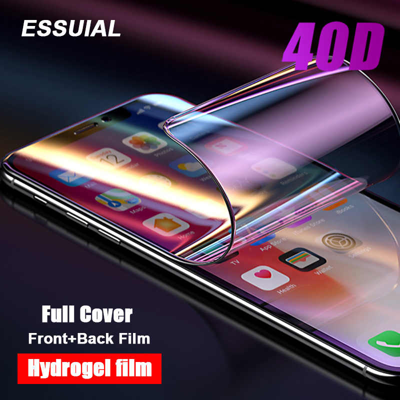 40D Full Cover Hydrogel Film For iPhone 11 Pro XS Max X XR Screen Protector For iPhone 7 8 6 6s Plus Protection Film Not Glass