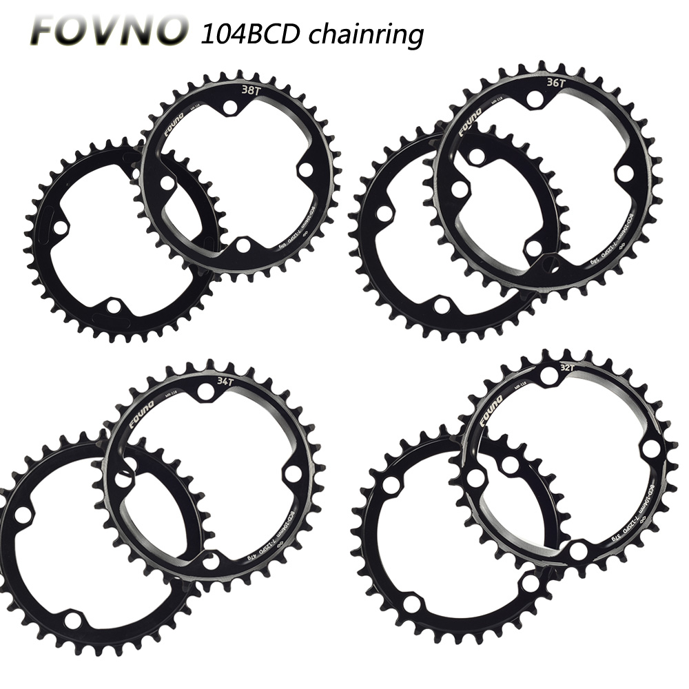FOVNO 104BCD <font><b>narrow</b></font> and <font><b>wide</b></font> sprocket mountain bike <font><b>32T</b></font> 34T 36T 38T plate single tooth plate parts 104 BCD accessories image