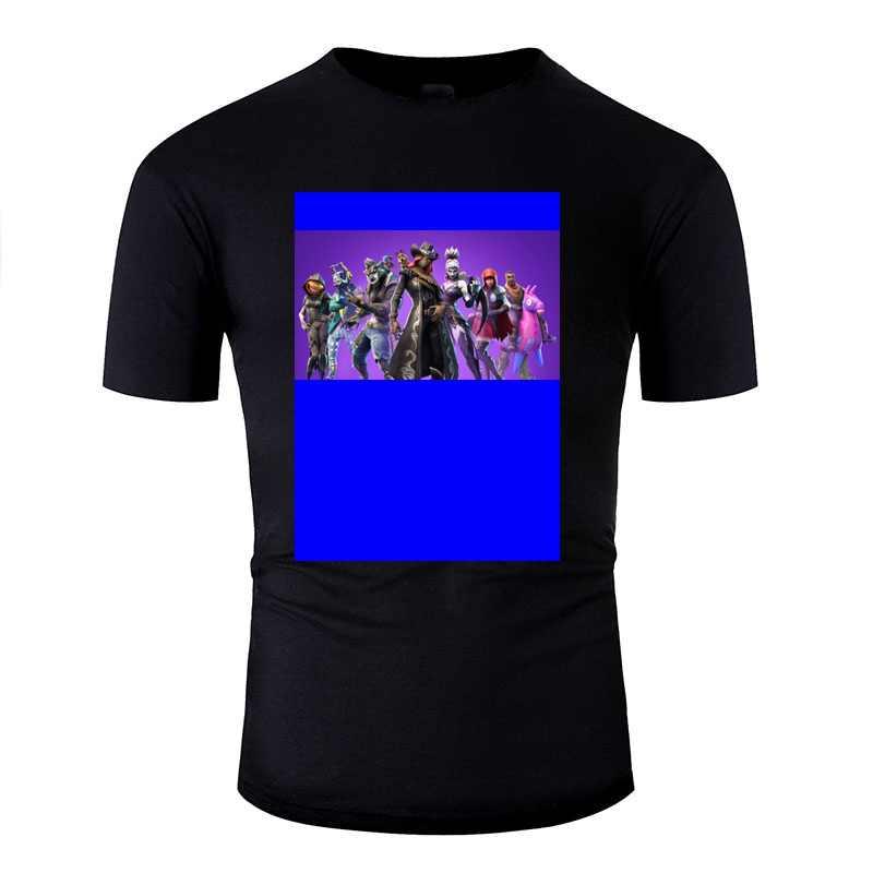 Yeni yaz Fornite S6 serin genç ceket T-Shirt kız erkek siyah erkekler Tee gömlek düz renk boyutu Xxxl 4xl 5xl Tee üst