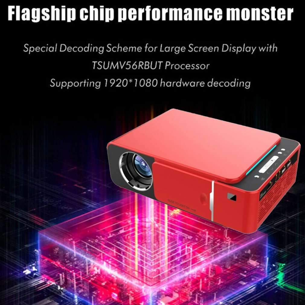T6 Android 9.0 WIFI Optional 2600lumen 720p HD Portable LED Projector HDMI Support 4K 1080p Home Theater Proyector Beamer