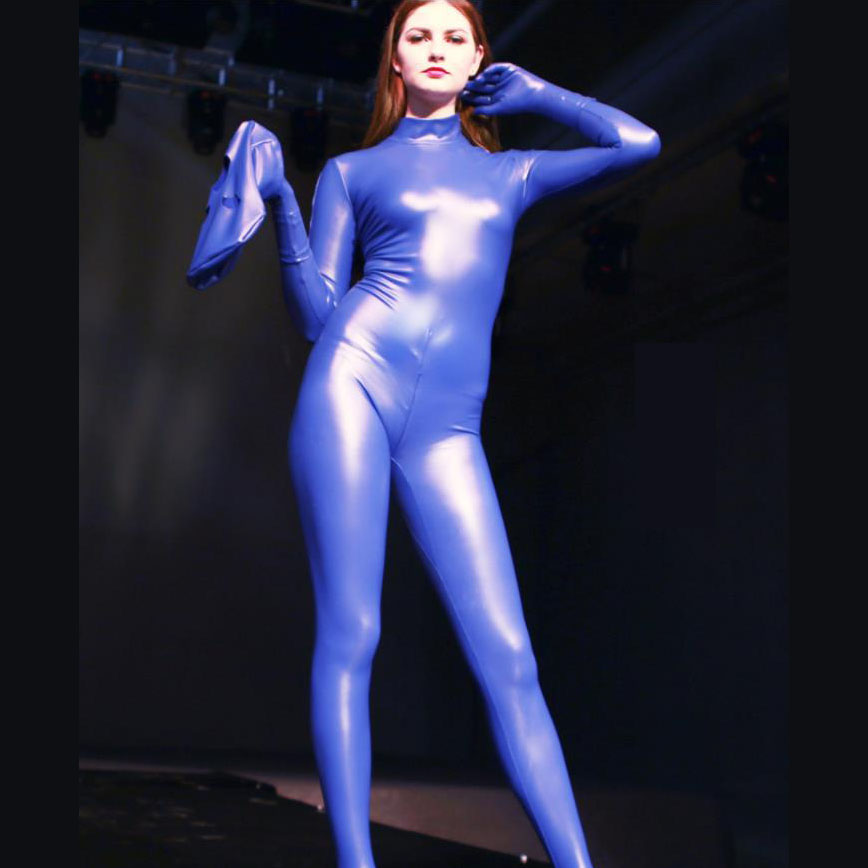 3XL 3pcs/set Latex Bodystocking Sexy Hot Erotic Zipper Open Crotch Bodysuit Long Sleeve Rompers Womens Jumpsuit Overalls Catsuit