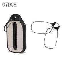 Legless braçadeira nariz óculos de leitura para homem e mulher portátil telefone pegajoso para enviar ultra-fino óculos caso + 2.00 + 2.50