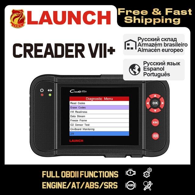 إطلاق Creader السابع + السابع زائد Creader CRP123 أداة تشخيص OBD2 الماسح الضوئي OBDII أدوات الديزل السيارات رمز القارئ ABS إطلاق الماسح الضوئي
