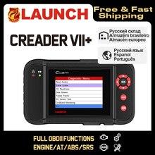 Lancio Creader VII + VII Creader più CRP123 Strumento Diagnostico OBD2 Scanner OBDII Diesel di Strumenti di Auto Auto Lettore di Codice ABS Lancio scanner