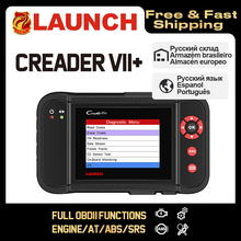 Launch Creader VII + VII plus Creader CRP123 диагностический инструмент OBD2 сканер OBDII дизельные инструменты авто считыватель кодов ABS Launch сканер