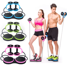 1PCS Multifunctional Double Wheel Chest Expander Power Roller Household Abdominal Wheel Quipment Indoor Sports Family Fitness
