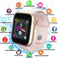 Nouveau femmes montre intelligente carte Sim Fitness Bluetooth IOS Android montre téléphone montres caméra lecteur de musique WhatsApp Smartwatch pour enfant