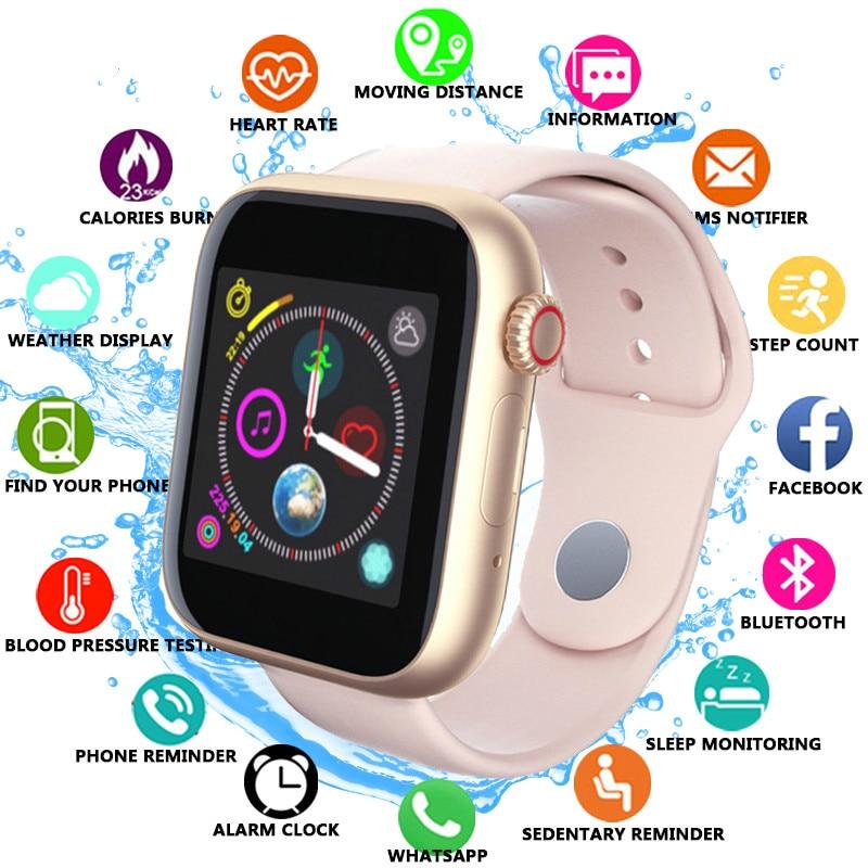 Novas mulheres relógio inteligente sim cartão de fitness bluetooth ios android relógio telefone relógios câmera leitor de música whatsapp smartwatch para o miúdo
