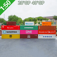 1:50 scale Alloy Toy Vehicles 20 40'GP container Model Of Children's Toy Cars Original Authorized Authentic Kids Toys